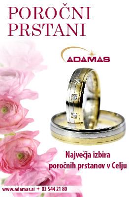 Adamas - Največja izbira poročnih prstanov Celju