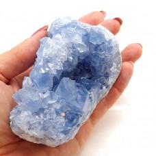 Celestin 9 x 7 cm s kristalnimi ploskvami