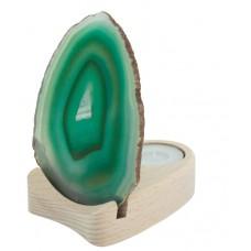 Ahat - plošča na lesu zelena, 10 - 12 cm