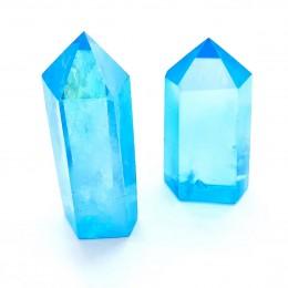 Aqua aura kristalna piramida 6-7 cm