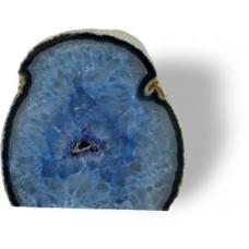 Ahat geoda, modra 10 cm