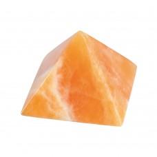 Piramida Kalcit oranžni 4x4 cm