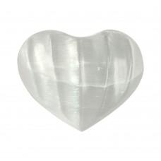 Srce iz minerala selenit za meditacijo 3x3 cm