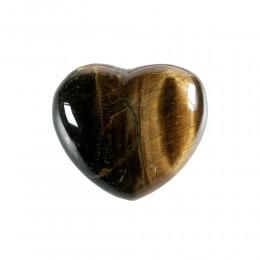 Srce iz minerala tigrovo oko za moč in samozavest