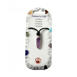Ogrlica igla ametist -kristal harmonije