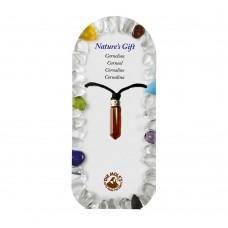 Ogrlica igla karneol - kristal ravnovesja