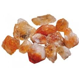 Citrin - surovi mineral s kristalnimi ploskvami 2x3 cm