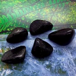 Črni lemurijski žad 2-3 cm